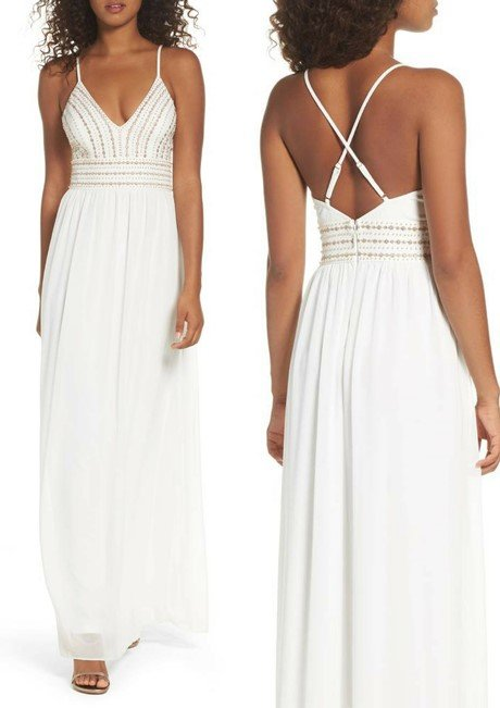 LULUS Glamorous Gala Embellished Maxi Dress