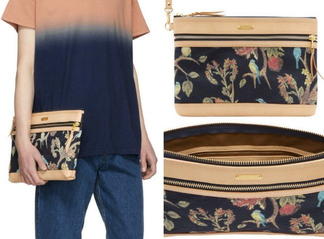 Master-Piece Co Pink & Navy Floral Pouch