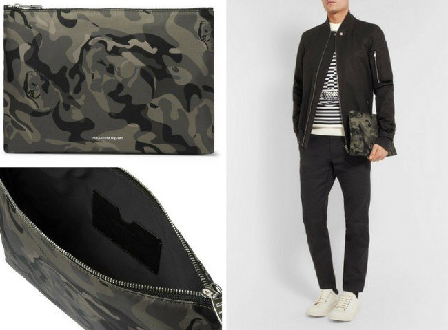 ALEXANDER MCQUEEN Skull Camouflage-Print Shell Pouch