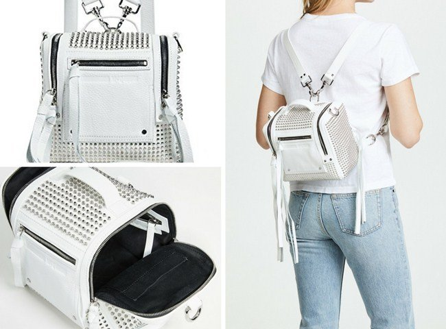 McQ by Alexander McQueen Stud Mini Convertible Box Backpack
