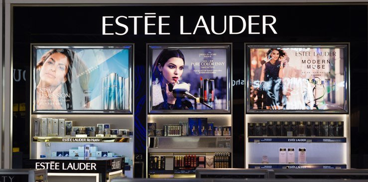 Estee Lauder store display at Los Angeles. CA-USA