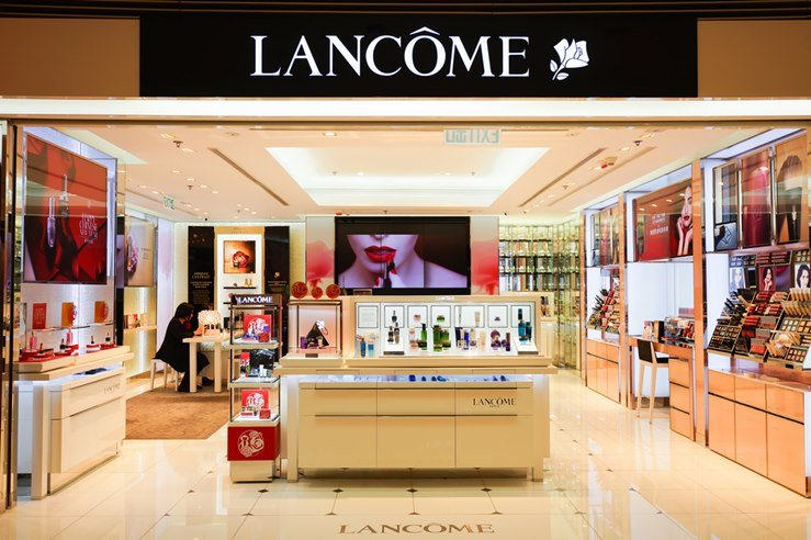 Lancome Boutique in Elements Shopping Mall. Hong Kong.