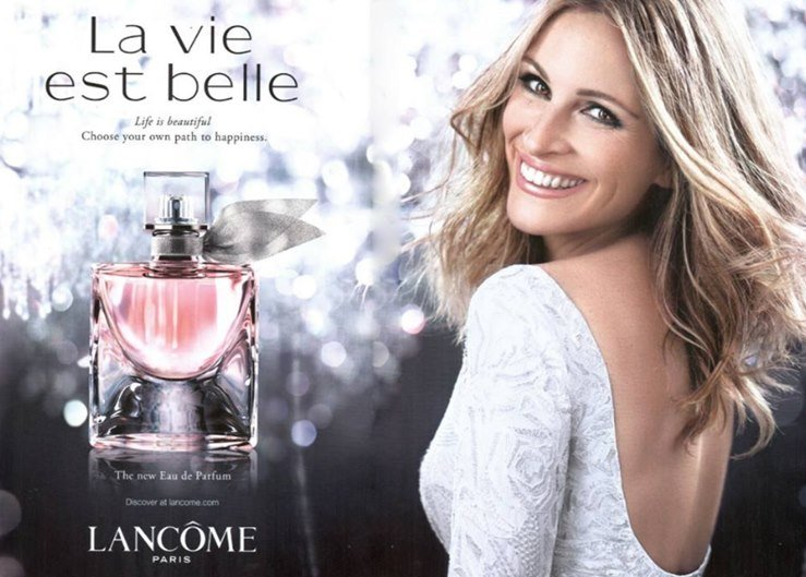 Julia Roberts In Pavoni For Lancome