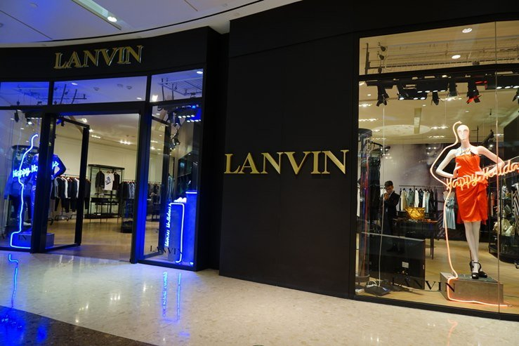 LANVIN Outlet in IFC Shopping Mall downtown in Pudong Lujiazui. Shanghai, China.