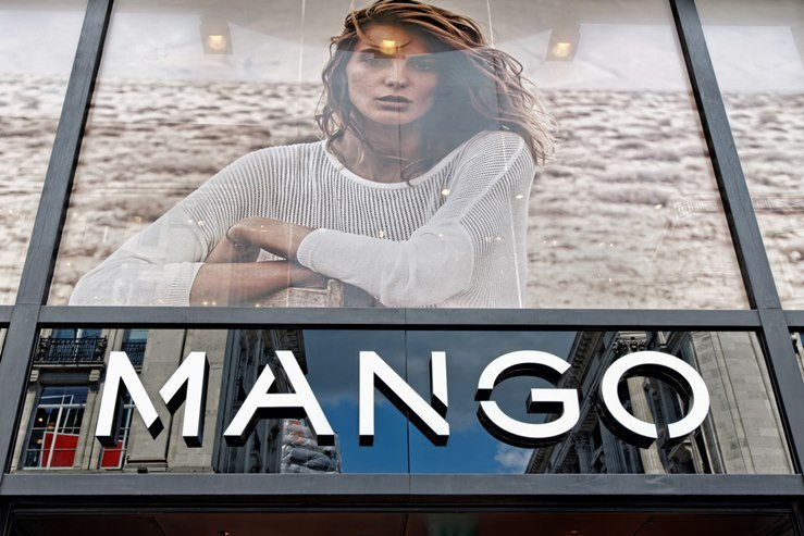 Mango Fashion store in Oxford Street. London, UK.