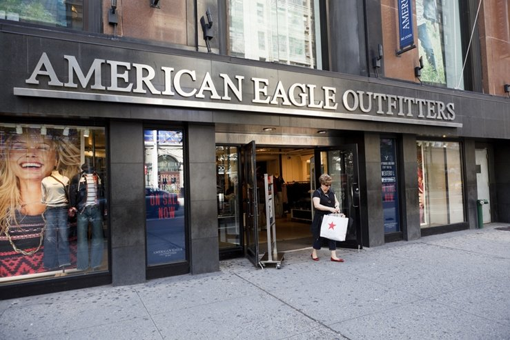 American Eagle Outfitters store on 34th street in New York City.