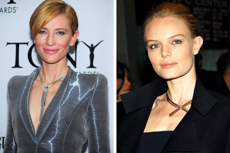 Cate Blanchett and Kate Bosworth seen wearing a Van Cleef & Arpels necklace.