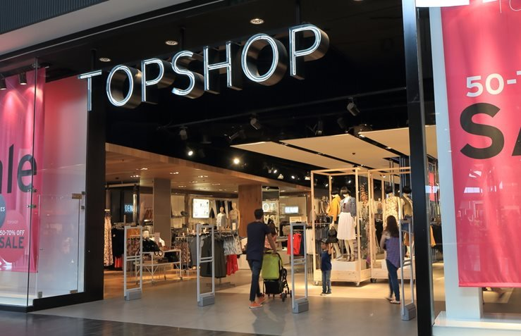 Top Shop Store in Melbourne, Australia