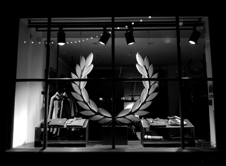 Fred Perry Boutique along Newburgh Street, London, UK.