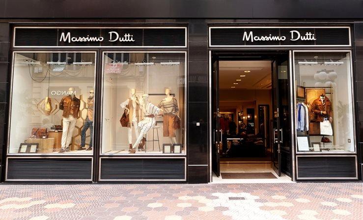 Massimo Dutti Boutique in Valencia, Spain.