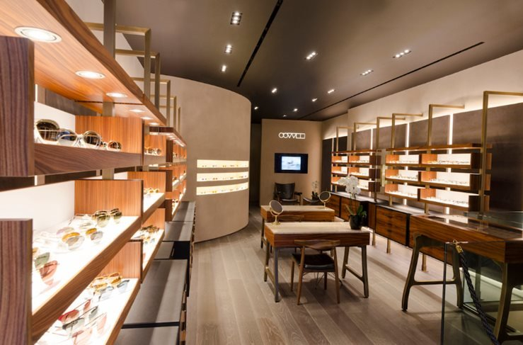 Oliver Peoples Boutique in London, UK.