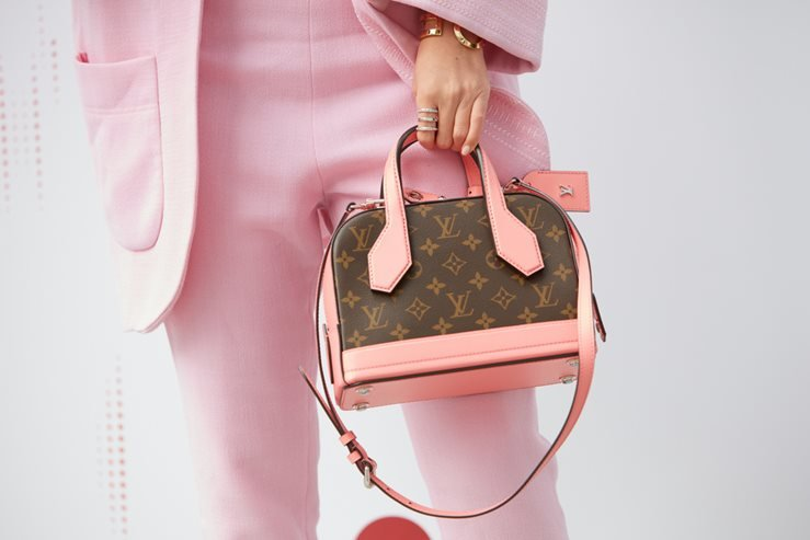 Pink Leather Louis Vuitton Bag
