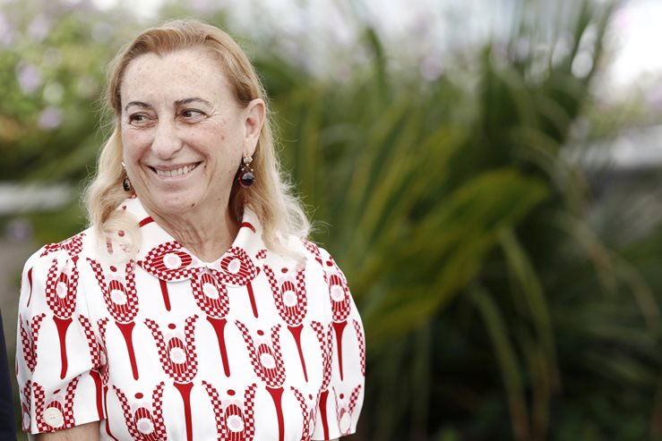 Miuccia Prada attends the 'Carne Y Arena' Photo-call during the 70th Cannes Film Festival