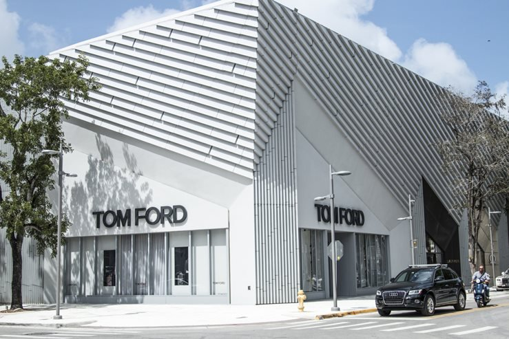 2nd avenue Tom Ford boutique in Design District Miami Midtown