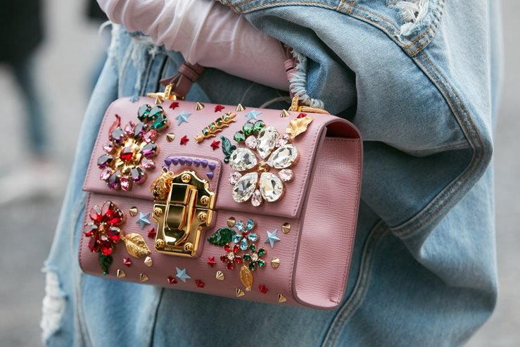 Dolce and Gabbana Pink Leather Bag