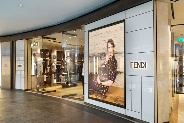 Fendi store in Marina Bay Sands, Singapore.