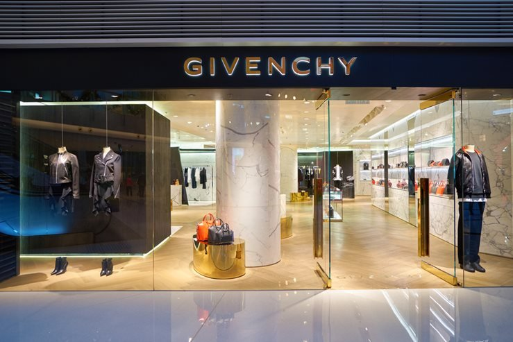 Givenchy store at the Elements shopping mall in Hong Kong.