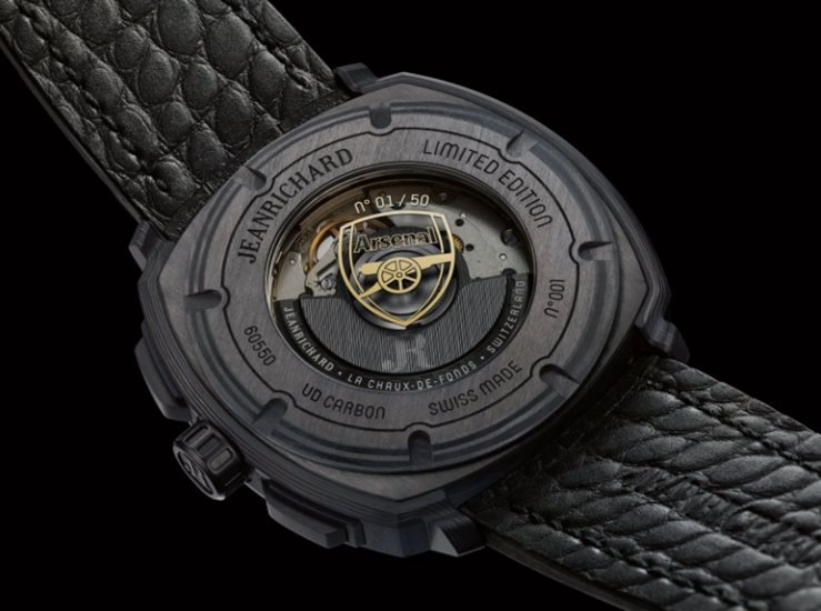JeanRichard Terrascope Watch - Arsenal Limited Edition (Case Back View)