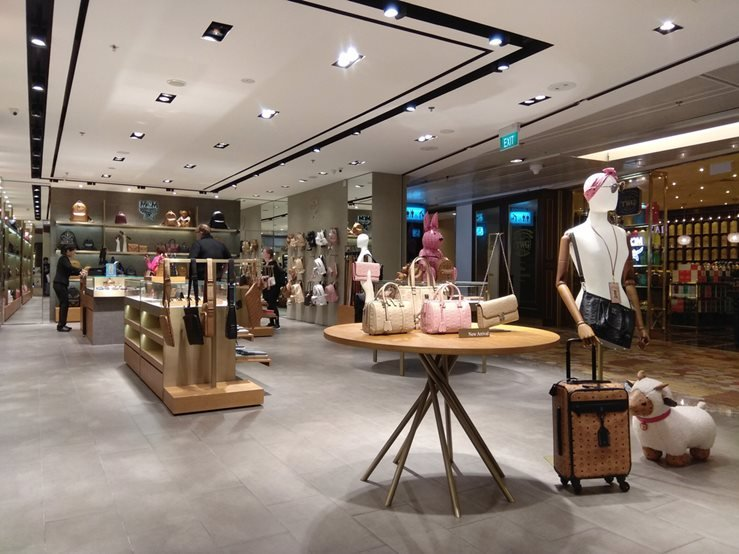 MCM fashion boutique store in Changi Airport, Singapore.
