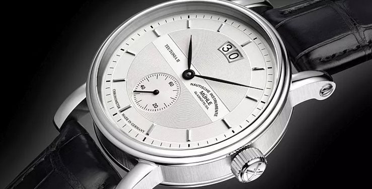 Muhle Glashuette Teutonia 2 Grossdatum Chronometer