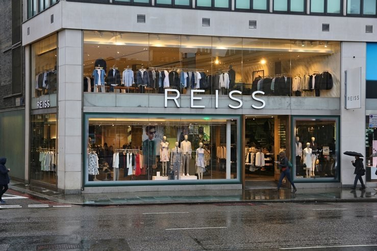 Reiss in Knightsbridge, London, UK.