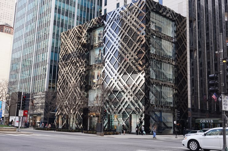 Burberry flagship in Michigan Avenue, Illinois. Chicago, United States of America. 2