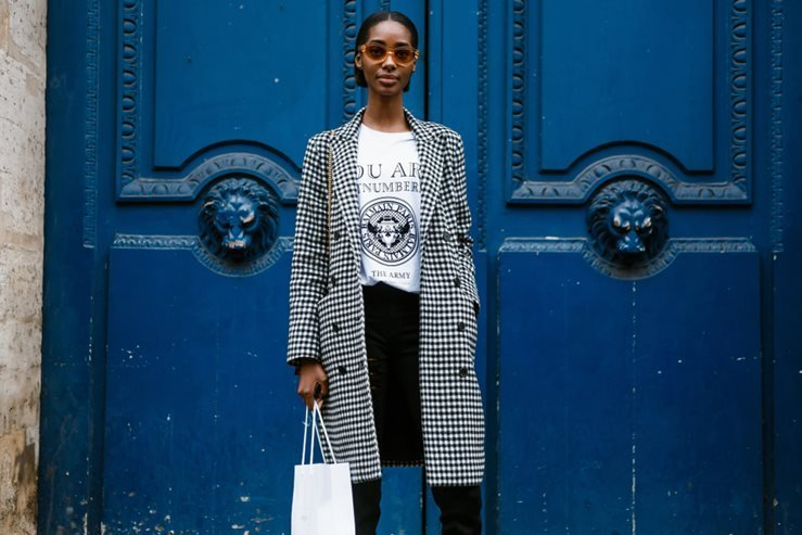 Tami Williams after BALMAIN show at Paris Fashion Week