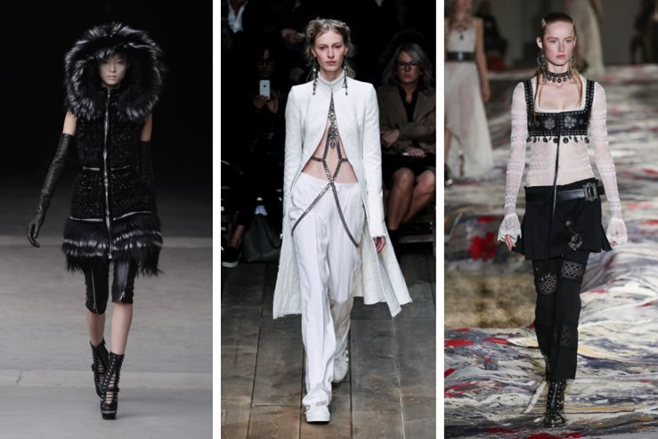 Alexander McQueen Fashion Show Evolution from 2014-2016 (left to right)