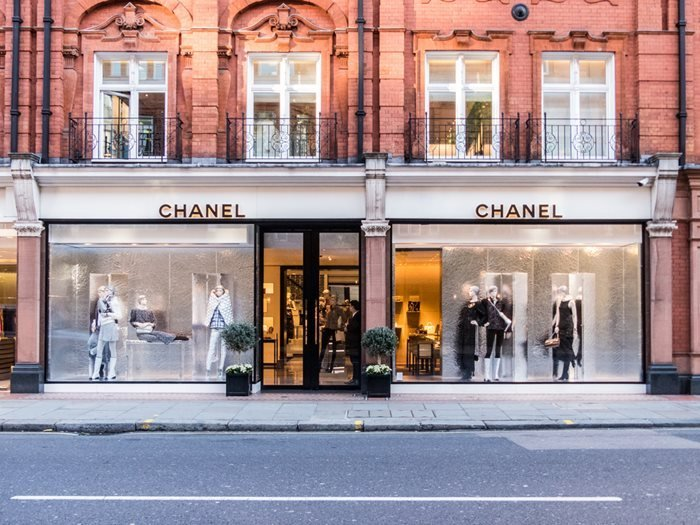 Chanel boutique on Sloane street, London, United Kingdom.