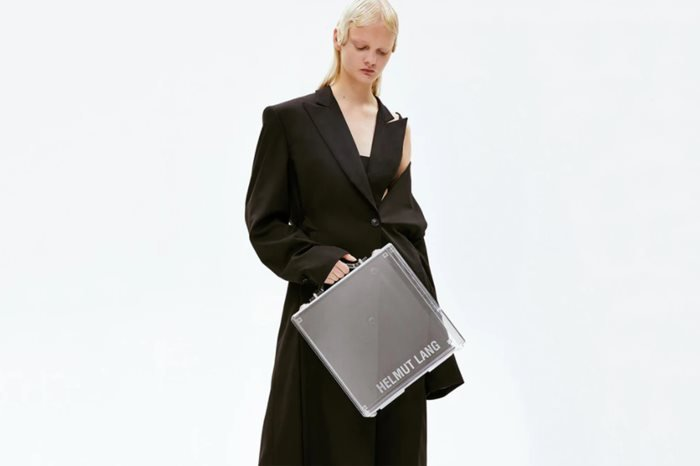 Helmut Lang Lucite Briefcase