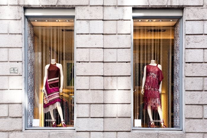Missoni boutique in Milan, Italy.