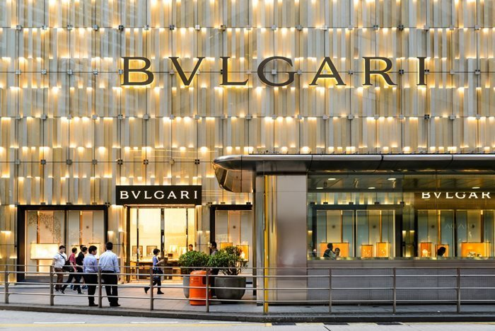 Bvlgari store in Central, Hong Kong.