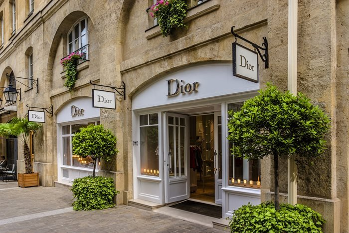 Dior Boutique in Royal Village (near to Madeleine in 8th district). Paris, France.