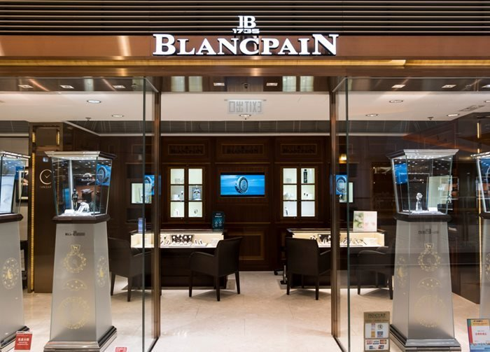 Blancpain Boutique in Hong Kong.