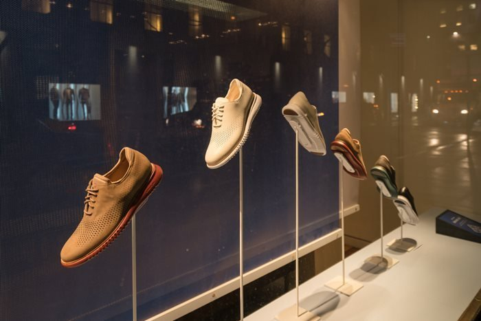 Cole Haan store on Fifth Avenue in Manhattan, New York, USA.