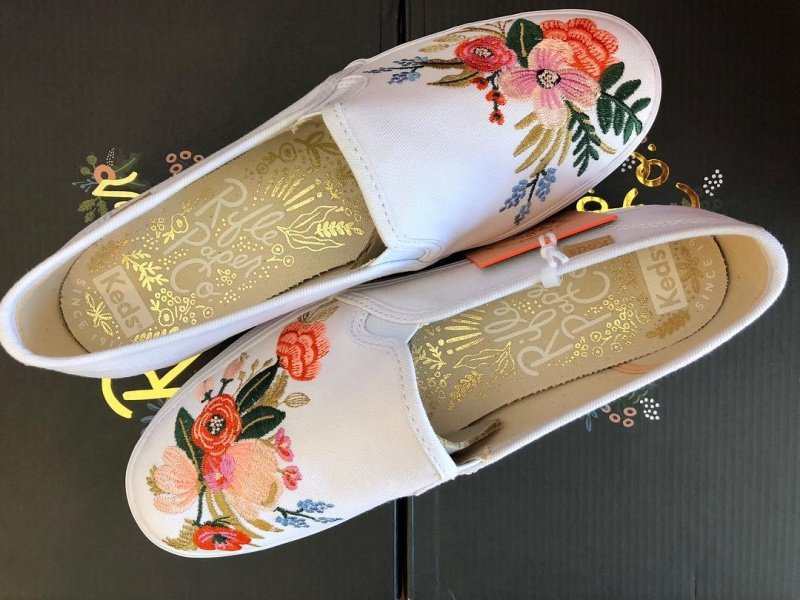 Keds X Rifle Paper Co. Triple Decker Slip-on in Lively Embroidery Sneakers Review 1