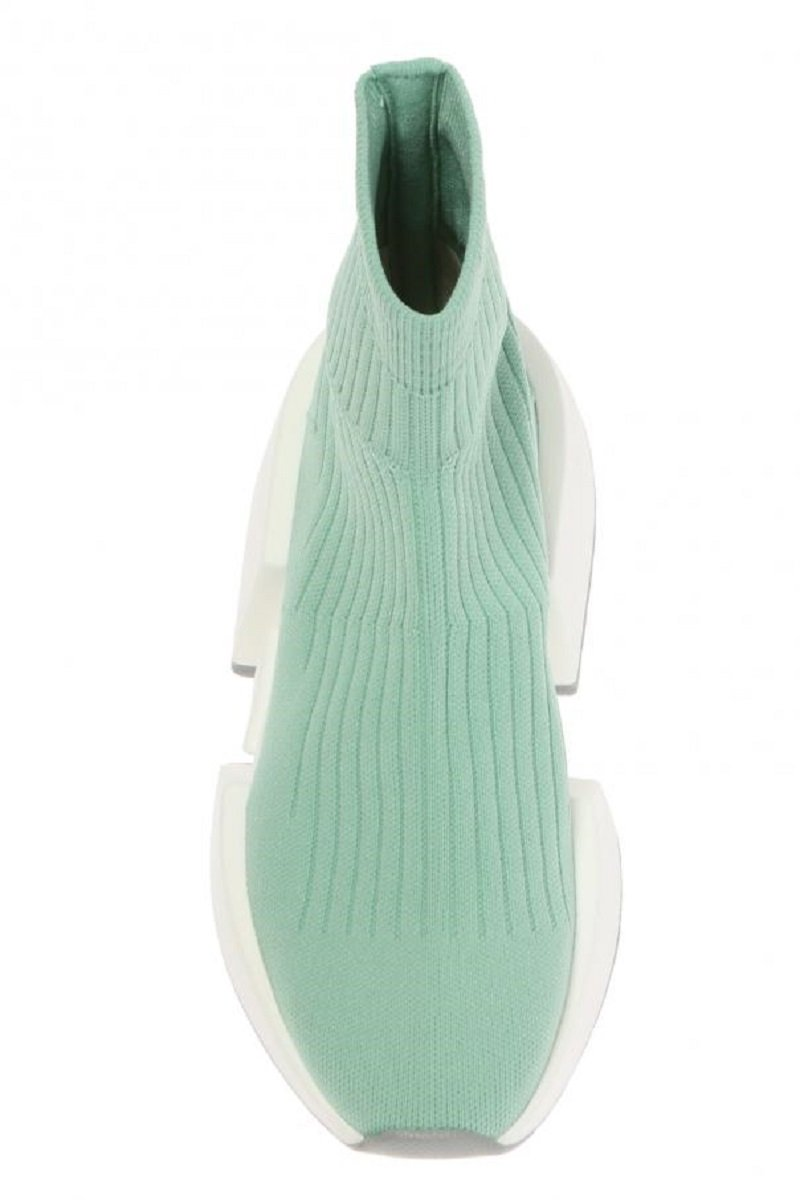 MM6 Maison Margiela Thick-Sole Rib-Knit Sneakers7