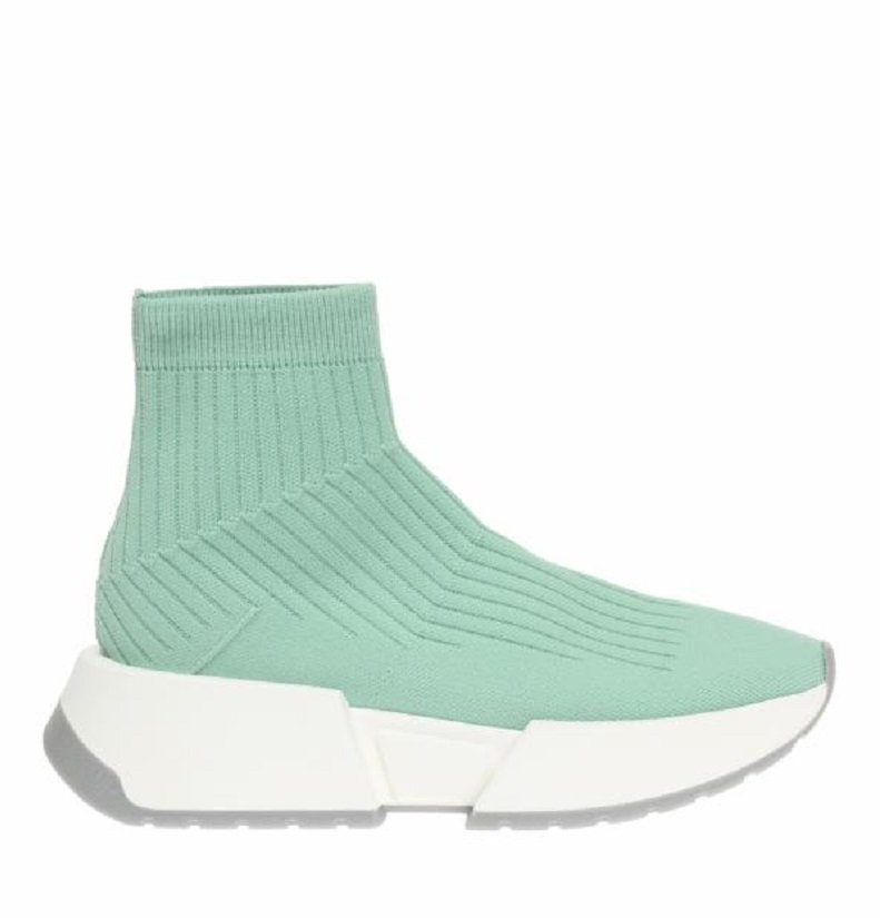 MM6 Maison Margiela Thick-Sole Rib-Knit Sneakers6