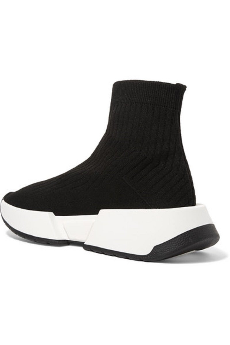 MM6 Maison Margiela Thick-Sole Rib-Knit Sneakers3