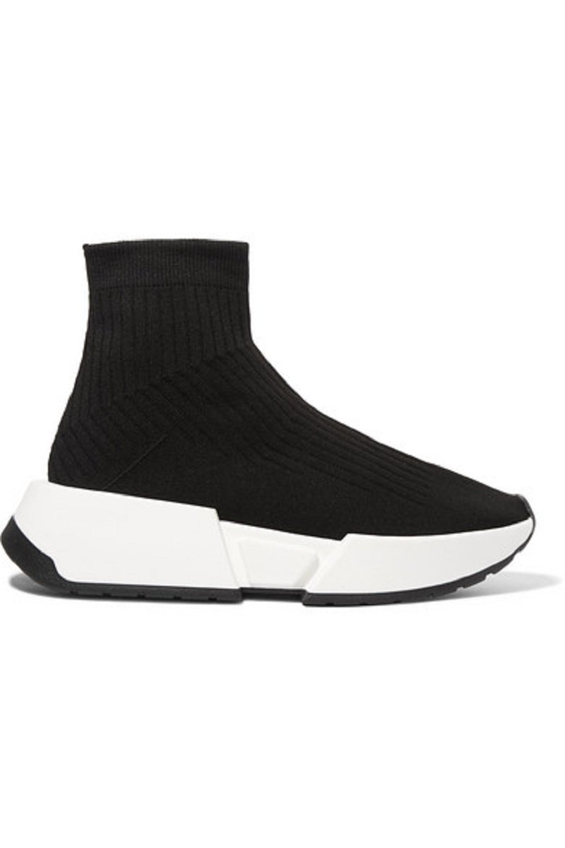 MM6 Maison Margiela Thick-Sole Rib-Knit Sneakers2
