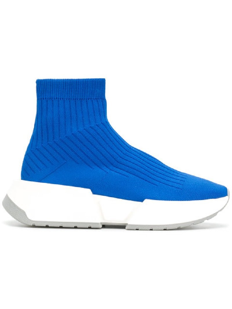MM6 Maison Margiela Thick-Sole Rib-Knit Sneakers4