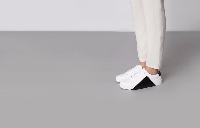 They New York Triangle Low in White and Black Sneakers Review 1
