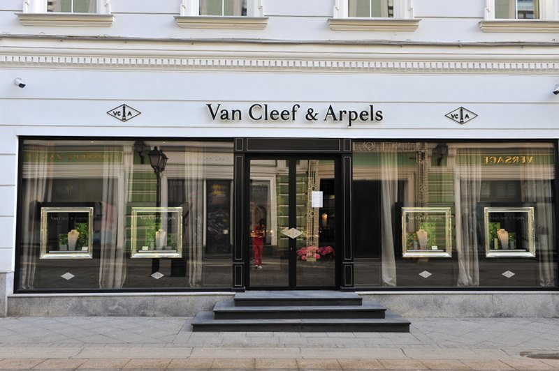 Van Cleef & Arpels flagship store, Moscow, Russia.