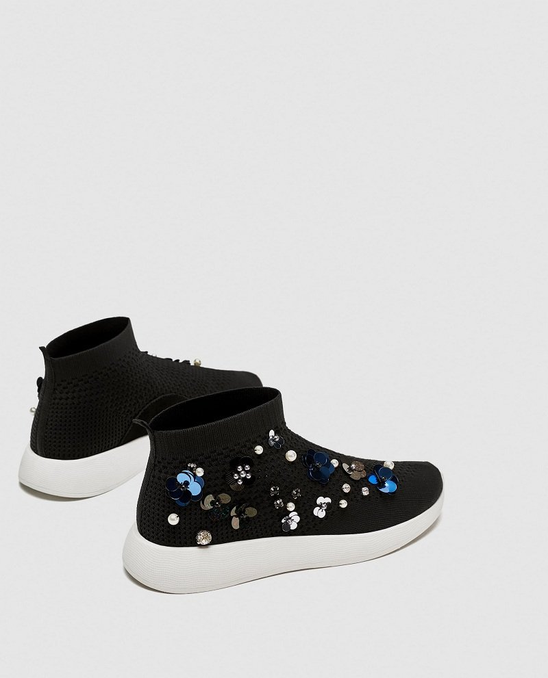 Zara Floral High Top Sneakers Review 4