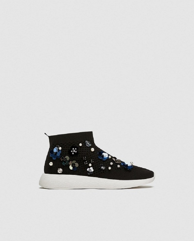 Zara Floral High Top Sneakers Review 6
