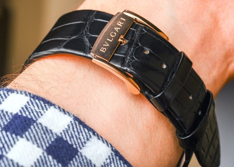 BULGARI OCTO 18K PINK GOLD AND ALLIGATOR STRAP WATCH Review 6