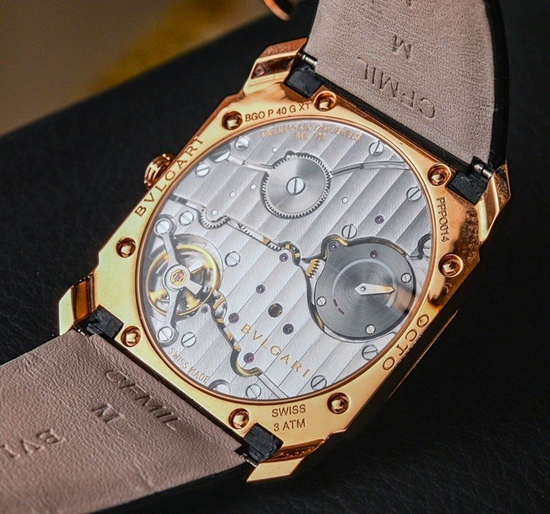 BULGARI OCTO 18K PINK GOLD AND ALLIGATOR STRAP WATCH Review 5