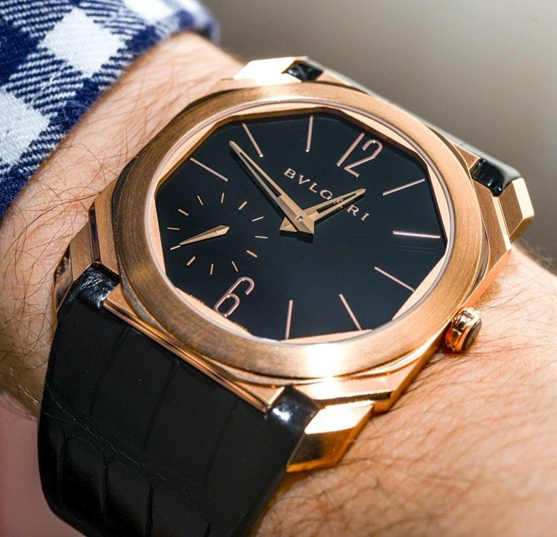 BULGARI OCTO 18K PINK GOLD AND ALLIGATOR STRAP WATCH Review 4