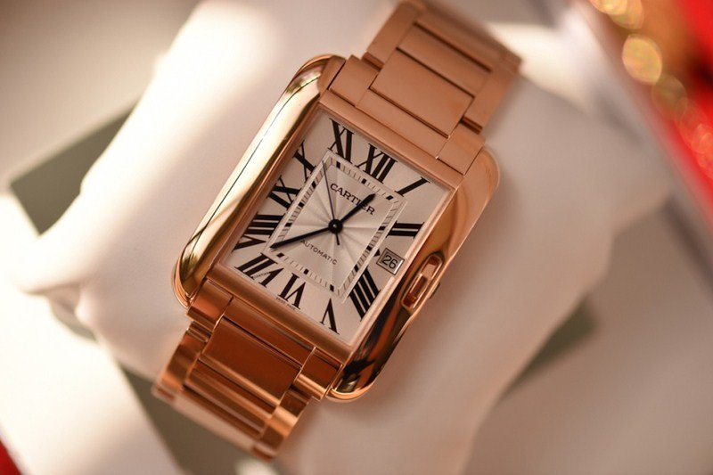Cartier 18k Rose Gold & Diamond Tank Anglaise Extra-Large Model Watch Review