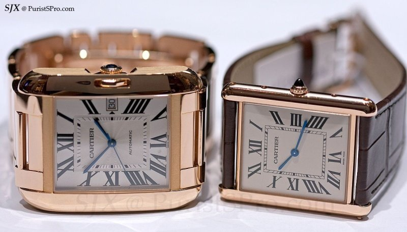 Cartier 18k Rose Gold & Diamond Tank Anglaise Extra-Large Model Watch Review 3